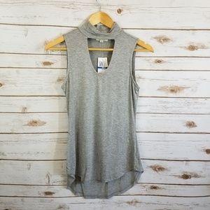 Ultra Flirt   grey gigi tank cut out sleeveless